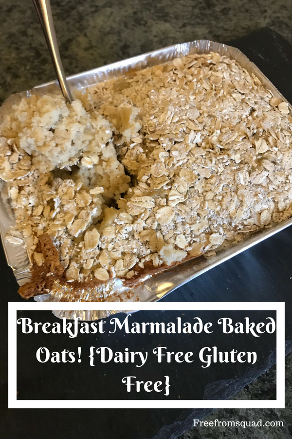 Marmalade dairy free gluten free baked oats
