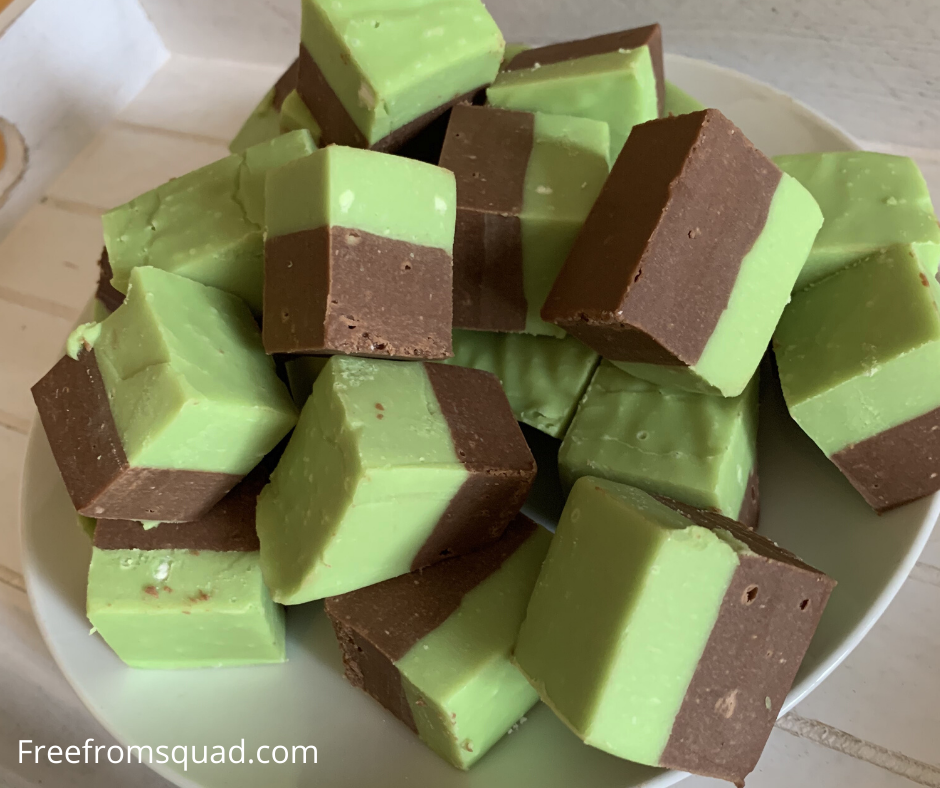 Mint chocolate fudge recipe
